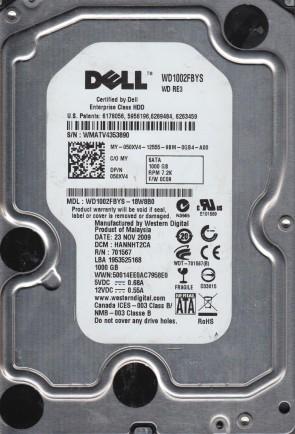 WD1002FBYS-18W8B0, DCM HANNHT2CA, Dell 1TB SATA 3.5 Hard Drive