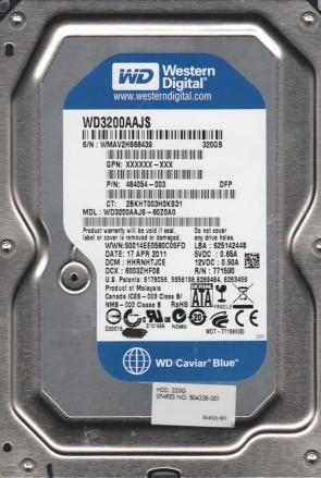WD3200AAJS-60Z0A0, DCM HHRNHTJCE, Western Digital 320GB SATA 3.5 Hard Drive