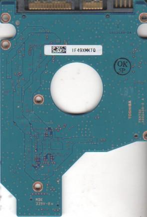 MK3255GSX, HDD2H27 F VL01 S, G002439-0A, Toshiba SATA 2.5 PCB