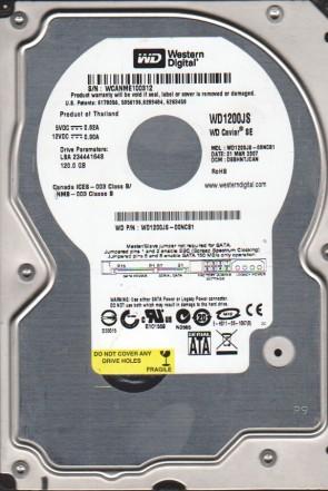 WD1200JS-00NCB1, DCM DSBHNTJCAN, Western Digital 120GB SATA 3.5 Hard Drive