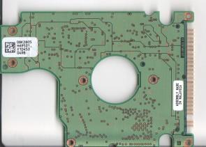 HTS726060M9AT00, 08K2805 H69531_, PN 0A25830, Hitachi 60GB IDE 2.5 PCB