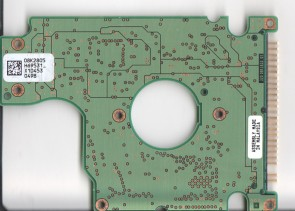 HTS726060M9AT00, 08K2805 H69531_, PN 08K0849, Hitachi 60GB IDE 2.5 PCB