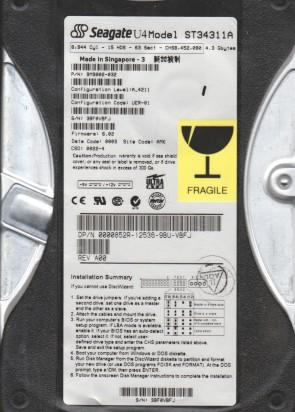ST310212A ML2 Seagate 10.2GB IDE 3.5 Hard Drive 7EG PN 9R5002-003 FW 3.02