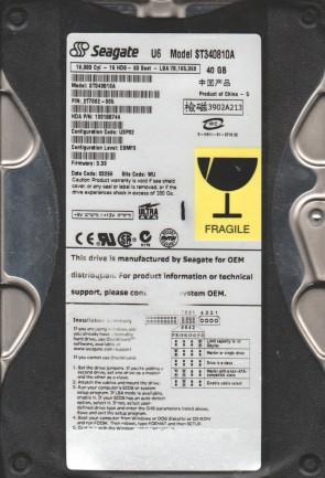 ST340810A, 5FB, WU, PN 9T7002-005, FW 3.39, Seagate 40GB IDE 3.5 Hard Drive