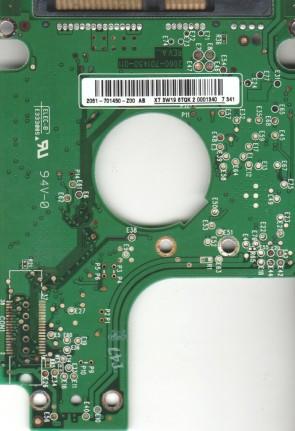 WD800BEVS-75RST0, 2061-701450-Z00 AB, WD SATA 2.5 PCB