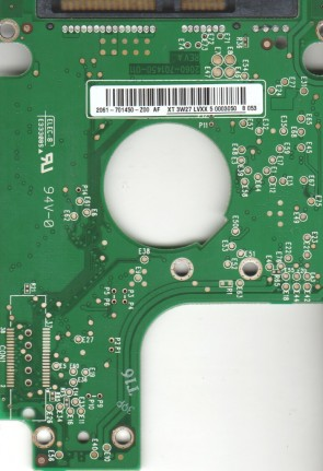 WD1600BEVS-22RST0, 2061-701450-Z00 AF, WD SATA 2.5 PCB
