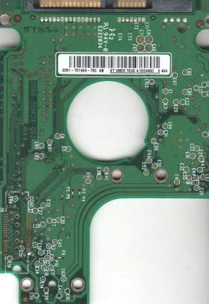 WD1200BEVS-00LAT0, 2061-701424-700 AB, WD SATA 2.5 PCB