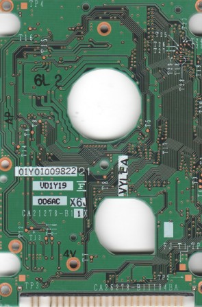 MHN2100AT, CA05456-B121, CA26278-B11104BA, Fujitsu IDE 2.5 PCB