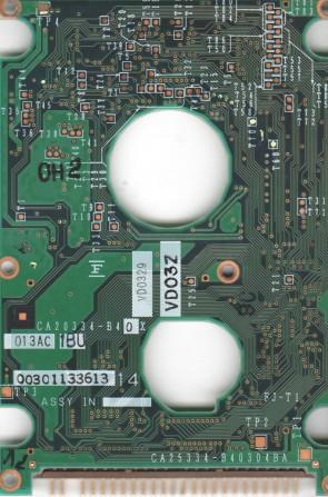 MHH2032AT, PN CA05311-B020, Fujitsu 3.2GB IDE 2.5 PCB