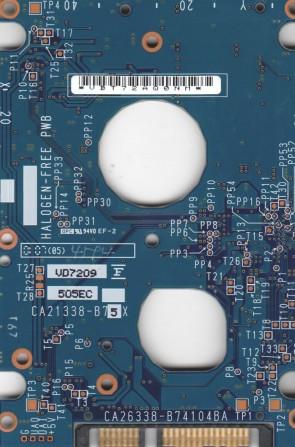 MHV2120BH PL, PN CA06672-B25600C1, Fujitsu 120GB SATA 2.5 PCB
