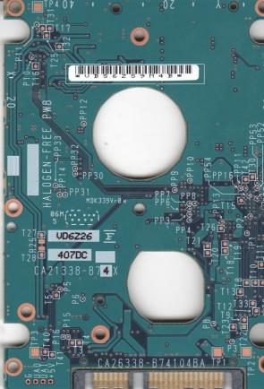 MHV2080BH PL, PN CA06672-B25300C1, Fujitsu 80GB SATA 2.5 PCB
