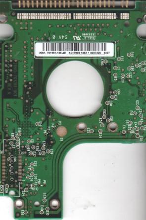 WD800UE-00HCT0, 2061-701281-100 AE, WD IDE 2.5 PCB