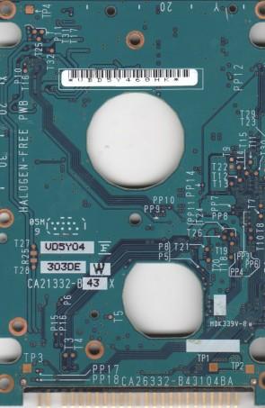 MHV2080AT PL, CA06557-B31300SN, CA26332-B43104BA, Fujitsu 80GB IDE 2.5 PCB