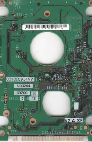 MHT2060AT, CA06297-B436000T, CA26325-B17204BA, Fujitsu 60GB IDE 2.5 PCB