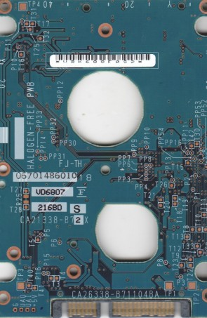 MHV2080BH, PN CA06672-B24400C1, Fujitsu 80GB SATA 2.5 PCB