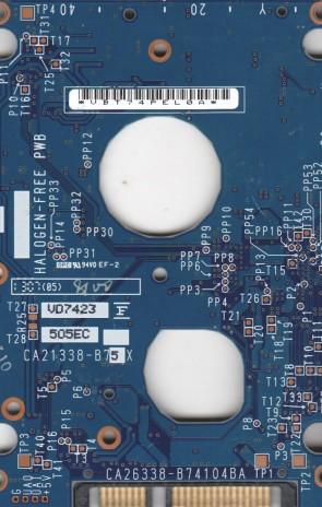 MHV2060BH, CA06672-B55100AP, CA26338-B74104BA, Fujitsu 60GB SATA 2.5 PCB