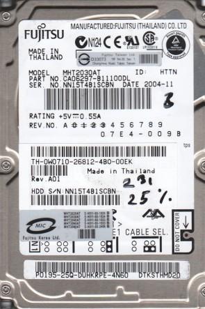 MHT2030AT, PN CA06297-B11100DL, Fujitsu 30GB IDE 2.5 BSectr HDD
