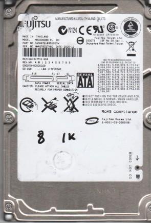 MHV2060BH PL, PN CA06672-B35100TW, Fujitsu 60GB SATA 2.5 BSectr HDD