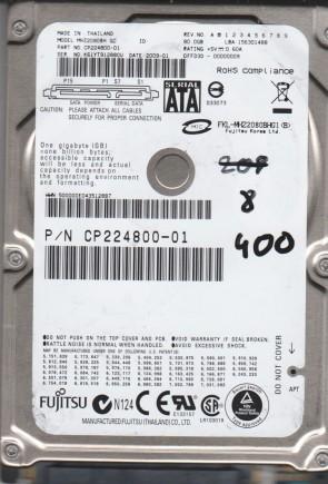 MHZ2080BH G2, PN CP224800-01, Fujitsu 80GB SATA 2.5 BSectr HDD