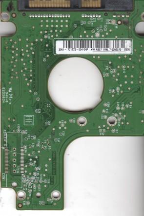 WD1600BEVT-80A23T0, 2061-771672-004 04P, WD SATA 2.5 PCB