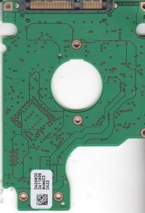 HTS541080G9SA00, 0A26800 DA1189B, PN 0A27464, Hitachi 80GB SATA 2.5 PCB