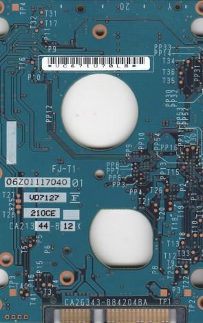 MHW2120BH, CA06820-B38700AP, CA26343-B84204BA, Fujitsu 120GB SATA 2.5 PCB
