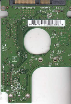 WD3200BEVT-22A23T0, 2061-771672-001 AC, WD SATA 2.5 PCB