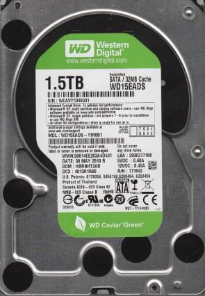 WD15EADS-11R6B1, DCM HBRNHT2AB, Western Digital 1.5TB SATA 3.5 Hard Drive