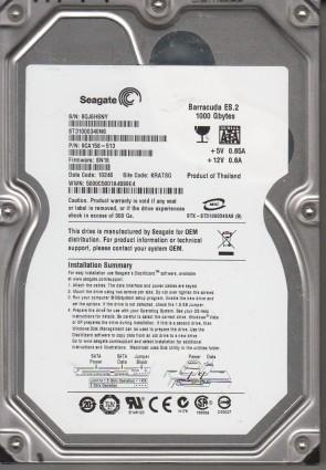 ST31000340NS, 9QJ, KRATSG, PN 9CA158-513, FW SN16, Seagate 1TB SATA 3.5 Hard Drive
