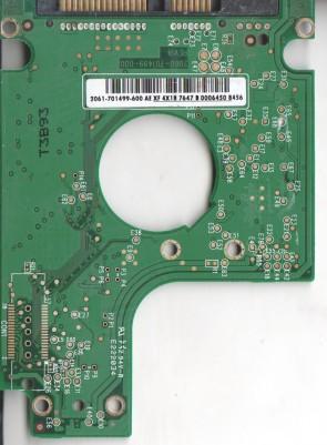WD2500BEVS-08UST0, 2061-701499-600 AE, WD SATA 2.5 PCB
