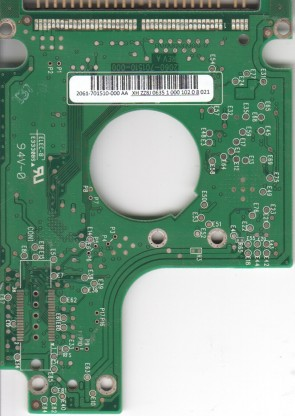 WD1600BEVE-00UYT0, 2061-701510-000 AA, WD IDE 2.5 PCB