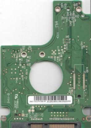 WD3200BEKT-22F3T0, 2061-701574-D00 AA, WD SATA 2.5 PCB