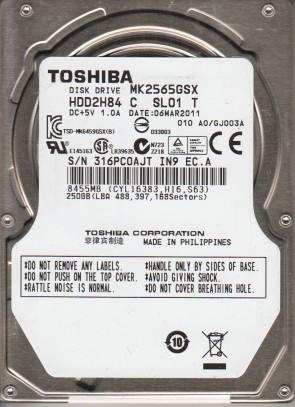 MK2565GSX, A0/GJ003A, HDD2H84 C SL01 T, Toshiba 250GB SATA 2.5 Hard Drive