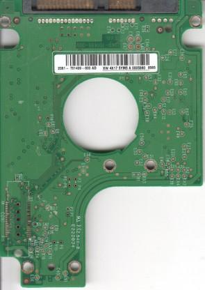 WD2500BEVS-60UST0, 2061-701499-600 AD, WD SATA 2.5 PCB