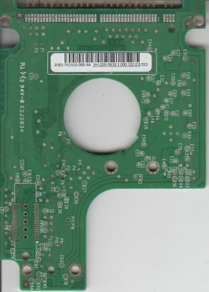 WD2500BEVE-00WZT0, 2061-701532-000 AA, WD IDE 2.5 PCB