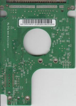 WD1200BEVE-00WZT0, 2061-701532-000 AH, WD IDE 2.5 PCB