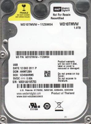 WD10TMVW-11ZSMS4, DCM HHMT2BN, Western Digital 1TB USB 2.5 Hard Drive