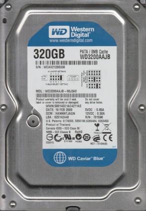 WD3200AAJB-00J3A0, DCM HANNNTJAGN, Western Digital 320GB IDE 3.5 Hard Drive