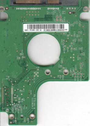 WD800BEVS-75RST0, 2061-701450-Z00 AJ, WD SATA 2.5 PCB