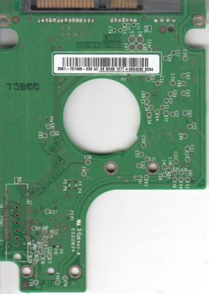 WD1600BEVT-60ZCT1, 2061-701499-E00 AC, REV A, WD SATA 2.5 PCB