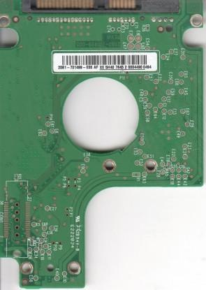WD2500BEVS-08VAT2, 2061-701499-E00 AF, REV A, WD SATA 2.5 PCB