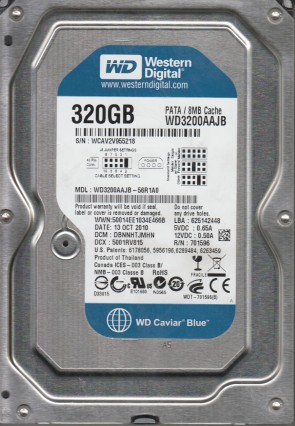 WD3200AAJB-56R1A0, DCM DBNNHTJMHN, Western Digital 320GB IDE 3.5 Hard Drive
