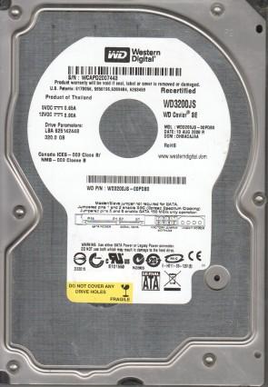 WD3200JS-00PDB0, DCM DHBACAJAA, Western Digital 320GB SATA 3.5 Hard Drive