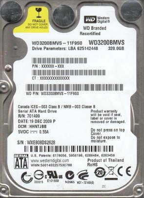 WD3200BMVS-11F9S0, DCM HHNTJBB, Western Digital 320GB SATA 2.5 Hard Drive