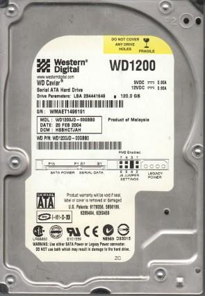 WD1200JD-00GBB0, DCM HSBHCTJAH, Western Digital 120GB SATA 3.5 Hard Drive