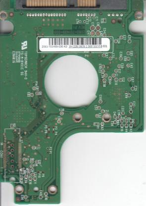 WD2500BEVT-60ZCT1, 2061-701499-E00 AD, REV P1, WD SATA 2.5 PCB