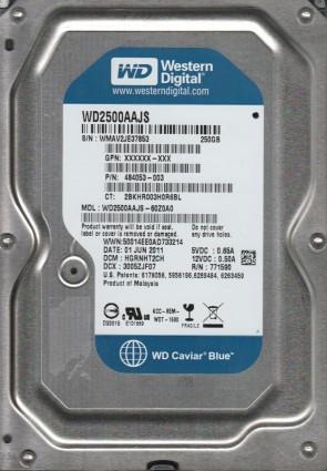 WD2500AAJS-60Z0A0, DCM HGRNHT2CH, Western Digital 250GB SATA 3.5 Hard Drive