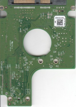 WD6400BPVT-24HXZT1, 771692-105 04P, WD SATA 2.5 PCB