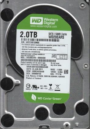 WD20EARS-00S0XB0, DCM HBRCHV2AAB, Western Digital 2TB SATA 3.5 Hard Drive