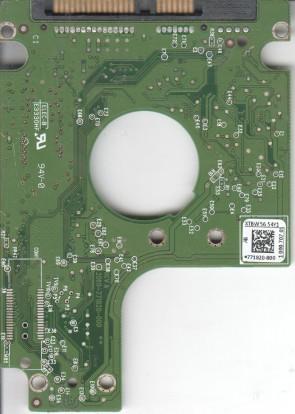 WD2500BPVT-00JJ5T0, 771820-800 AB, WD SATA 2.5 PCB